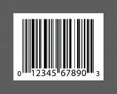 a black and white barcode