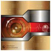 Technology Eyeball Thinking Abstract Background