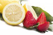 Strawberry with lemon