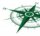 green compass background