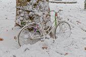 Zagreb bike in the snow