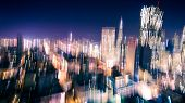 Motion Blur Of City Lights
