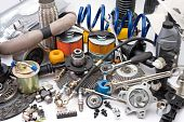 stock photo of spare  - a lot of different auto spare parts - JPG