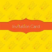 Knife Fork Spoon Invitation Card