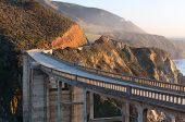 Bixby arch bridge in sunset light