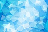 image of polygon  - Blue Light Polygonal Mosaic Background Vector illustration Business Design Templates - JPG