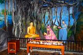 Buddhist staged in the Temple of Vishnu Devinuwara