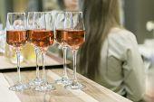 Glasses With Wine, Closeup Shot