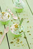 Frozen Yogurt With Fresh Pistachio