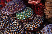 Embroidered Skull-caps. Turkmenistan. Ashkhabad