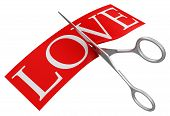 Scissors and Love (clipping path included)