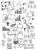 business plan vector set