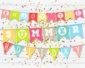 stock photo of confetti  - Summer holidays and vacation - JPG
