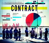 picture of barter  - Contract Agreement Strategy Marketing Business Concept - JPG