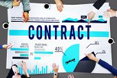 stock photo of barter  - Contract Agreement Strategy Marketing Business Concept - JPG