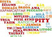 foto of pity  - Background concept wordcloud multilanguage international many language illustration of pity - JPG