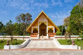 picture of vihara  - small hall of temple in Sakonakorn province Thailand - JPG
