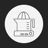 pic of juicer  - Juicer Line Icon - JPG