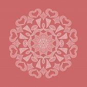 picture of doilies  - Ornamental round lace pattern doily - JPG