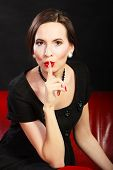 picture of silence  - Fashion beauty and elegance concept - JPG