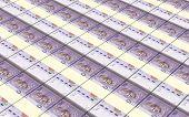 stock photo of ringgit  - Malaysian ringgit stacks background - JPG