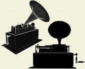 Edison antigo gramofone Vec...