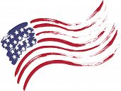 stock photo of usa flag  - Grunge American USA flag  - JPG