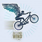 foto of wind wheel  - Mountain bike trials - JPG