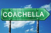 coachella road sign , worn and damaged look poster