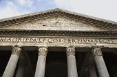 Pantheon facade in Rome, Italy.