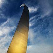Spire of Air Force Memorial in Arlington, Virginia, USA.
