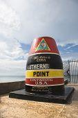 Southernmost point landmark of Key West, Florida.