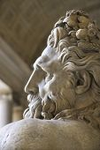 Close-up profile of the River Tiber sculpture in the Vatican Museum, Rome, Italy.