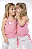 Female children Caucasian twins.