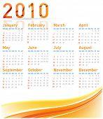 simples moderno calendário para 2010