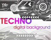 Techno background for design