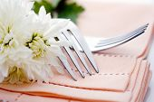 pic of wedding table decor  - Napkin on wedding table - JPG