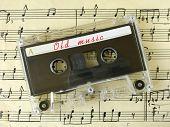 Cassette On Old Sheet Music