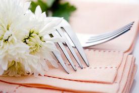picture of wedding table decor  - Napkin on wedding table - JPG
