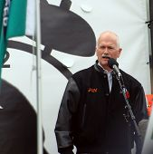 Jack Layton at Forestry Rally