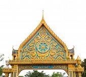 Thai Art On Gate Temple