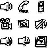 Web icons marker contour media