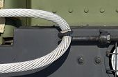 Steel Cable Is Used For Towing Auto.it Is Heavy And Very Durable. poster