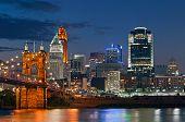 Cincinnati skyline.