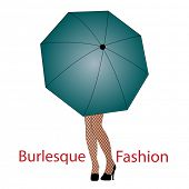 image of titillation  - Legs under an umbrella  - JPG