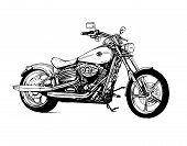 Motorcycle Bike Motorbike Motor Speed Transport Black poster