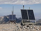 Solar powered weather stations high on 11,916 foot Mt. Charleston.  30 miles from Las Vegas, Nevada,