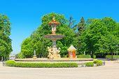 Fountain Artichoke Fountain ( Fuente De La Alcachofa) In  Buen R poster