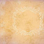 Background Peach Grunge With Frame