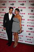 LOS ANGELES - MAY 12: Eli Roth & Peaches Geldof at the Nylon Magazine Young Hollywood Party 2010 at the Hollywood Roosevelt Hotel in Los Angeles, California on May 12, 2010